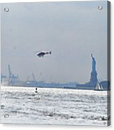 Lady Liberty's Typical Day Acrylic Print