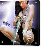 Lady Lightning  Acrylic Print