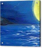 Lady Moon Acrylic Print