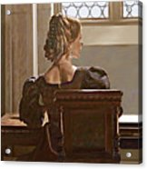 Lady Near The Window Acrylic Print