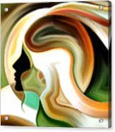 Lady Of Color Acrylic Print