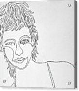 Lady On A Line Acrylic Print