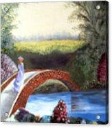Lady on the Bridge Acrylic Print