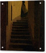 Lady On The Staircase Acrylic Print