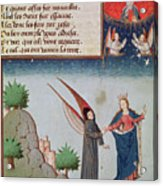 Lady Philosophy Leads Boethius In Flight Into The Sky On The Wings That She Has Given Him Acrylic Print