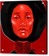 Lady Red Acrylic Print