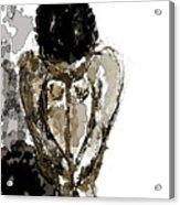 Lady Sitting Acrylic Print
