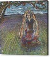 Lady Under A Tree Acrylic Print