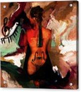 Lady Violin 01 Acrylic Print