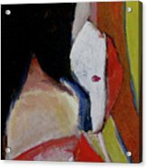 Lady With A Mask Acrylic Print