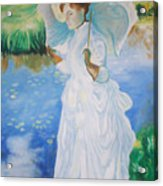 Lady With A Parasole  Acrylic Print