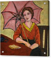 Lady With An Umbrella Acrylic Print