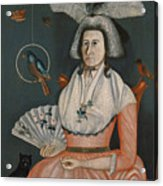 Lady With Her Pets. Molly Wales Fobes Acrylic Print