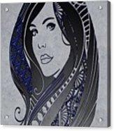 Lady Zen Acrylic Print