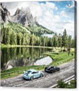 Laferrari And Gt3rs In The Dolomites Acrylic Print