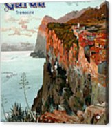 Lago Di Garda Lake Garda Vintage Poster Acrylic Print