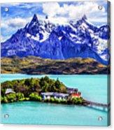 Lago Pehoe Acrylic Print