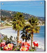 Laguna Beach Springtime Pano Acrylic Print