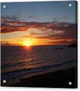 Laguna Golden Sunset Acrylic Print