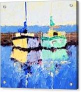 Lahaina Boats Acrylic Print