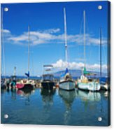 Lahaina In Blue Acrylic Print by Ron Dahlquist - Printscapes