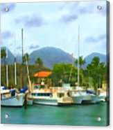 Lahina Harbor Acrylic Print