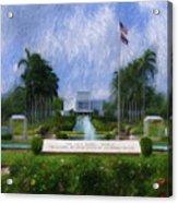 Laie Hawaii Temple Acrylic Print