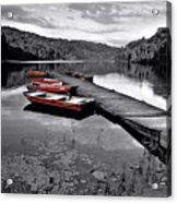 Lake And Boats Acrylic Print