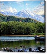Lake And Volcano Acrylic Print