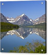 Lake At Many Glacier Acrylic Print