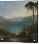 Lake Avernus - Aeneas And The Cumaean Sybil Acrylic Print