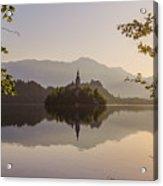 Lake Bled At Sunrise Acrylic Print