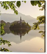 Lake Bled In The Morning Acrylic Print