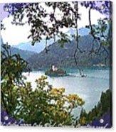 Lake Bled.slovenia.greeting Card Acrylic Print