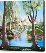 Lake Blue. Acrylic Print