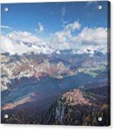 Lake Bohinj From Mount Vogel Acrylic Print