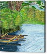 Lake Bratan Boats Bali Indonesia Acrylic Print