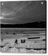 Lake Bw Acrylic Print