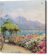 Lake Como From The Villa Carlotta Acrylic Print