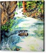 Lake Como Waterfall Acrylic Print