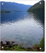 Lake Crescent - Digital Painting Acrylic Print