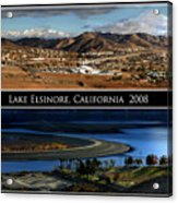 Lake Elsinore  180 Degrees Acrylic Print