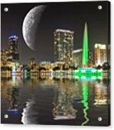 Lake Eola Moon Acrylic Print