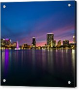 Lake Eola Sunset Acrylic Print