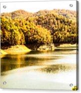 Lake Fantana In The Mountans Acrylic Print
