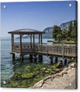 Lake Garda Riverside At Garda Acrylic Print