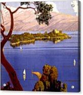Lake Garda Vintage Poster Restored Acrylic Print