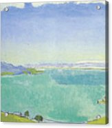 Lake Geneva From The Caux Acrylic Print