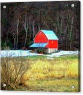 Lake Hallie Barn Acrylic Print