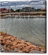 Lake Hefner Dock Acrylic Print